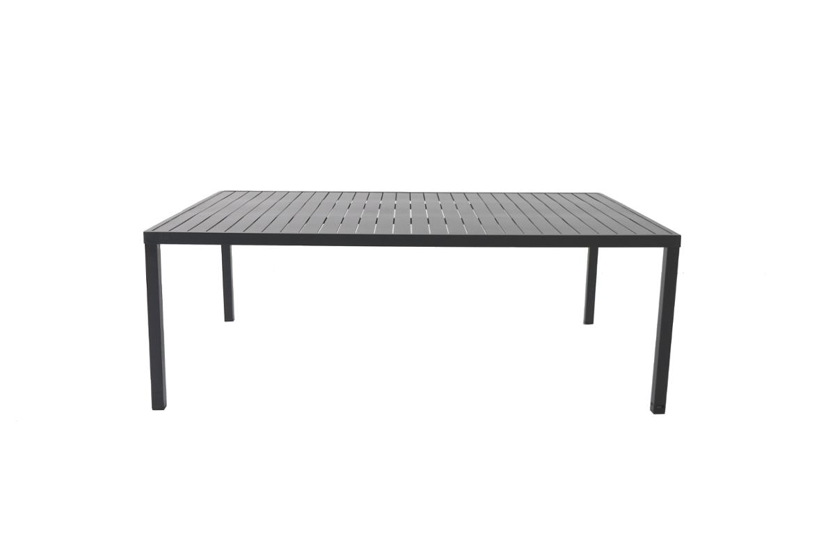 TABLE DE JARDIN RECTANGULAIRE PIAZZA GRAPHITE